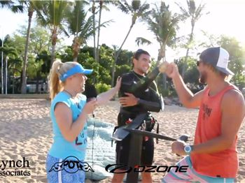 Two kite foilers and a sailor girl... - Kitesurfing News